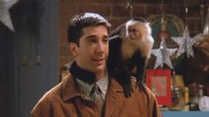 Because his BFF was a monkey named Marcel: - Shares Niche Love Friends Episodes, Friends Moments, Friends Series, Friends Tv Show, Friends Actors, Ross Friends, Friends Cast, Marcel, David Schwimmer