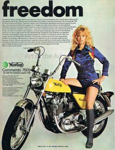1972 Norton Commando 750 Hirider Motorcycle Freedom by ArtoftheAd