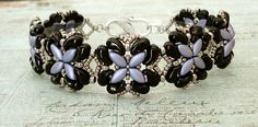 Bracelet of the Day: For Your Eyes Only - Lavender & Jet