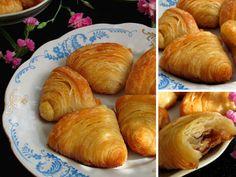 """Удивительно красивая и не менее вкусная турецкая сладость """"Мидии""""! Потрясающее слоеное тесто, внутри орешек, а сверху щедро пропитанная ..."""