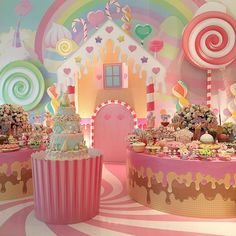 Decor Party Birthday Candy Land Ideas For 2019 Candy Theme Birthday Party, Candy Land Theme, Candy Party, 1st Birthday Parties, Themed Parties, Party Decoration, Birthday Decorations, Candy Decorations, Candyland