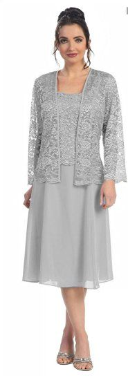 The Dress Outlet Short Mother of the Bride Church Dress with Jacket at Amazon…