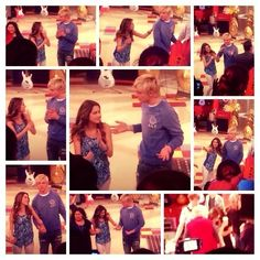 Ross and Laura at an Austin and Ally live taping for Season 3. It looks like he tried to hold her hand!! haha