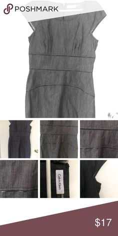 Calvin Klein Zipper Dress Size 6 Calvin Klein Zipper Dress Size 6  Grey very cute dress from Calvin Klein! No signs of wear on this casual/work dress  Thanks for looking Calvin Klein Dresses