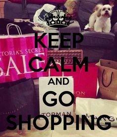 KEEP CALM AND GO SHOPPING Frases Cumple Fondos Carteles De Manten La Calma