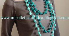 Che ne dite di una collana da realizzare in un pomeriggio?         Ecco un progetto semplice e veloce per realizzare all'uncinetto colorati...