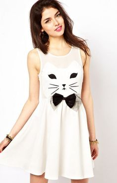 kitty face dress - kinda cute for Halloween