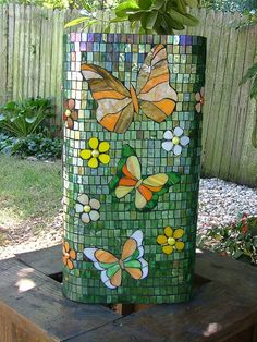 Butterfly Pedestal 2 by siriusmosaics, via Flickr