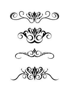 Decorative Scroll Set
