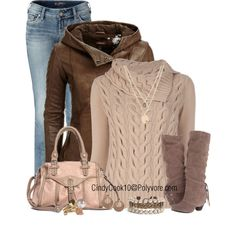 Brown and Pink, created by cindycook10 on Polyvore