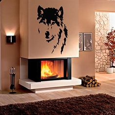 Wall Decals Wild Animals Wolf Dog Predator Face Bedroom Living Children Any Room Vinyl Decal Sticker Home Decor L53