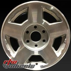 """Chevy Tahoe wheels for sale 2004-2006. 17"""" Machined rims 5196 - http://www.rtwwheels.com/store/shop/17-chevy-tahoe-wheels-oem-machined-silver-5196/"""