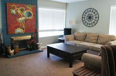 My living room, I love the huge artwork