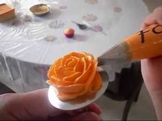 how to make a buttercream rose slower version with instructions - YouTube
