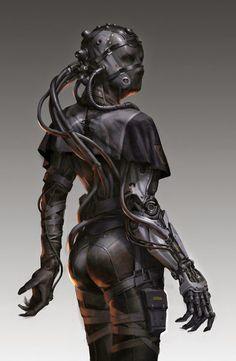Cyborg punk wench