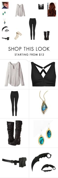 """""""000"""" by shaina-elise-hamby ❤ liked on Polyvore featuring LAmade, Koral, Topshop, Alexis Bittar, Carlos by Carlos Santana, Gurhan and H&M"""