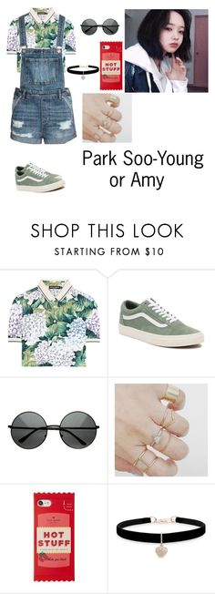 """""""Amy!!!"""" by acrylicgarden ❤ liked on Polyvore featuring Dolce&Gabbana, Vans, Kate Spade and Betsey Johnson"""