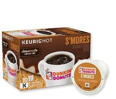 SMORES SEASONALS LIMITED TIME K-CUP 10 COUNT With a graham-slam of flavors like chocolate, marshmallow and graham cracker, one sip is all you'll need to want S'more. 100% Premium Arabica Coffee. https://food.boutiquecloset.com/product/smores-seasonals-limited-time-k-cup-10-count/