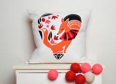 Love this fox cushion