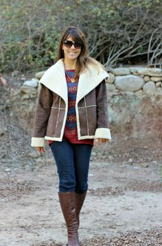 Faux Shearling Coat New Look 6416 pattern hack...