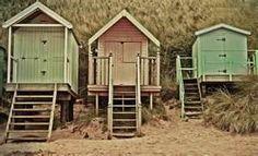 vintage beach huts