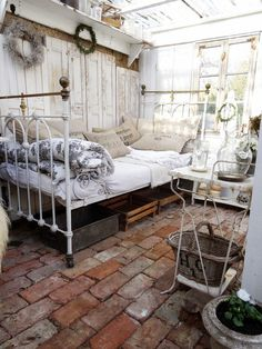 Maybe I should do this to the hubby's shed! As if.