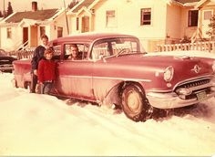 1955 Oldsmobile ....in the days when we actually got snow....