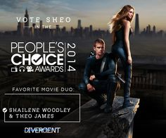 Vote as your favorite ACTION movie duo! Visit the People's Choice Awards to cast your vote Divergent Trilogy, Divergent Insurgent Allegiant, Movie Duos, He Chose Me, Tris And Four, Movie Marathon, Shailene Woodley, First Choice, Choice Awards