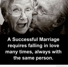 Successful marriage old couples