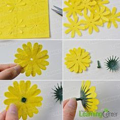 Make colorful flowers