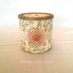 Mensanida craft: Bote vintage y caja conjunto.