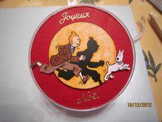 Boule de Noël Tintin - Les Créations de Perrine