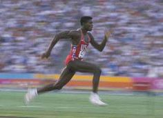 """At the 1984 Summer Olympics, Carl Lewis staked his claim on the title """"World's Greatest Athlete"""", winning gold medals in the Relay, and the Long Jump. Over the course of his career, Lewis appeared in 4 Olympics and totaled 9 gold medals. Carl Lewis, Olympic Sports, Olympic Athletes, Olympic Games, Olympic Medals, Usain Bolt, Bodybuilder, 1984 Summer Olympics, Summer Olympics"""
