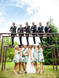 Fun Wedding Photos - Fun Bridal Party Photos | Wedding Planning, Ideas & Etiquette | Bridal Guide Magazine