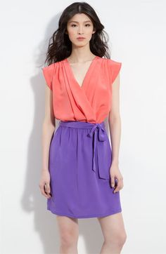 love this color block dress