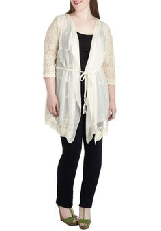 Elegant Day Off Cardigan in Plus Size, #ModCloth