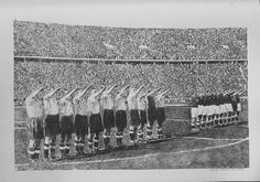 Germany v England,Berlin 1938 by Chris Shaw Hughes. Architect Design, Online Art Gallery, Art For Sale, Contemporary Art, Germany, My Arts, England, Sculpture, History