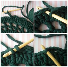 How to Make a Carpet with T-Shirt Yarn - Tutorial  ❥ 4U // hf