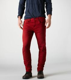 Relco Mens Skinny Jeans - Stone Wash Blue www.modwear.co.uk ...