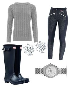 """""""Winter Barn Look"""" by tylir-penton on Polyvore featuring Hunter, WearAll and FOSSIL"""
