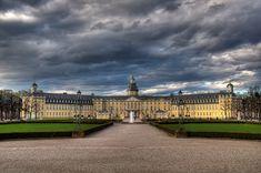 Fotos Palast Deutschland Karlsruhe Gewitterwolke Himmel Wolke Städte
