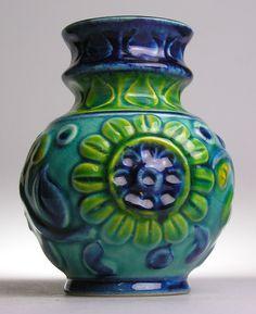 Bay Keramik Relief West German Pottery Modernistic 20 Mid Century