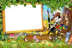 Kids Transparent Frame with Cartoon Painter