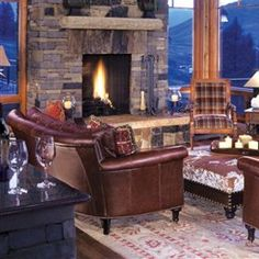   Mountain  Living Rooms   LUXE Source