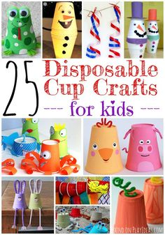 25 disposable cup crafts for kids! A roundup of fabulous ideas!