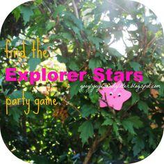 Googly Eyes & Glitter: DIY Dora Birthday Party Game: Find the Explorer Stars