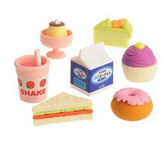 Cute Erasers. Japanese food erasers. #keshigomu 消しゴム