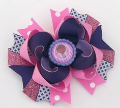 Birthday Theme Hair Bow Baby, Toddler. Girls Boutique Handmade Hair Bow - Ready to ship