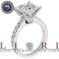 5.86 CT EGL Certified G-SI1 Princess Cut Diamond Engagement Ring 18k White Gold - Liori Exclusive Engagement Rings - Engagement - Lioridiamonds.com