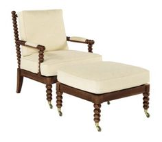 Spool Chair from the Mark Hampton collection by Hickory Chair Furniture Co.